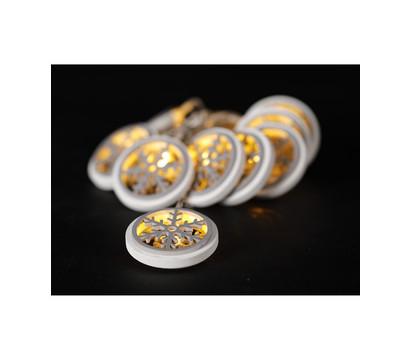 Dehner LED-Lichterkette Flocke, 10 Lichter, warmweiß