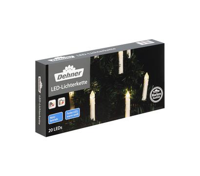 Dehner LED-Lichterkette Schaftkerzen, 20 Lichter, warmweiß