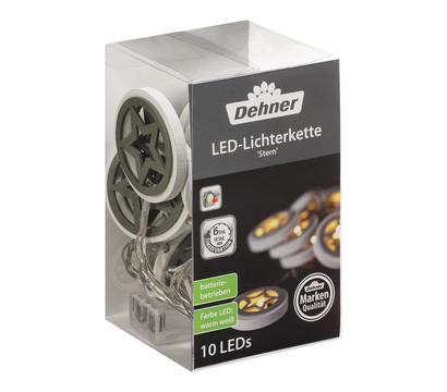 Dehner LED-Lichterkette Stern, 10 Lichter, warmweiß