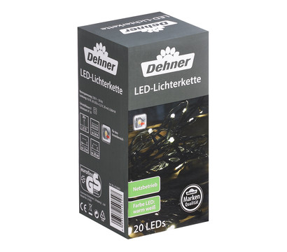 Dehner LED-Lichterkette, warmweiß