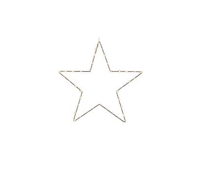 Dehner LED-Stern-Silhouette Ø 40 cm, silber