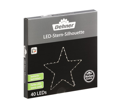 Dehner LED-Stern-Silhouette, 40 Lichter, Ø 25 cm, warmweiß