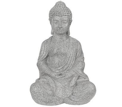 Dehner Leichtbeton-Buddha, ca. B44/H65/T35 cm, granit-grau