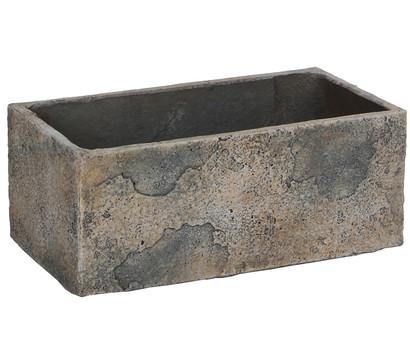 Dehner Leichtbeton-Kasten, rechteckig, grau