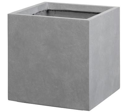 Dehner Leichtbeton-Topf, quadratisch, grau