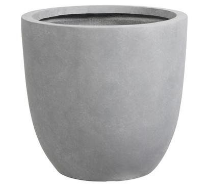 Dehner Leichtbeton-Topf, rund, grau