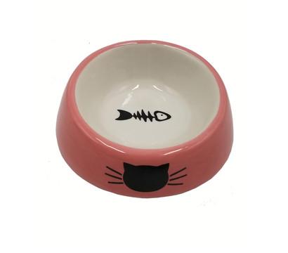 Dehner Lieblinge Steingut-Katzennapf Pink