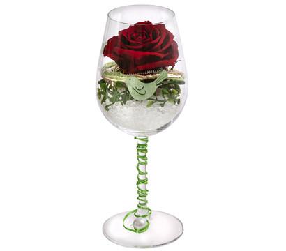 Dehner Longlife-Rose im Weinglas 'Jette'