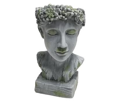 Dehner Magnesia-Kopf Apollo zum Bepflanzen, ca. B24/H41/T24 cm