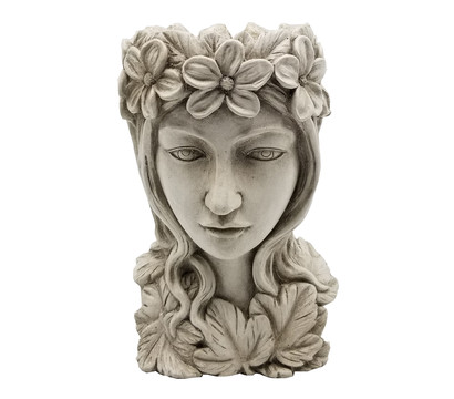 Dehner Magnesia-Kopf Athena zum Bepflanzen, ca. B21/H32/T20 cm