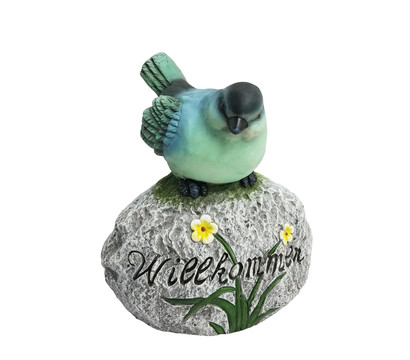Dehner Magnesia-Vogel 'Willkommen', ca. B30,2/H35,8/T21,5 cm