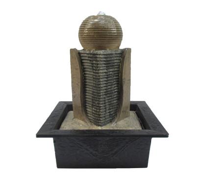 dehner markenqualit t polyresin zimmerbrunnen zen kugel. Black Bedroom Furniture Sets. Home Design Ideas