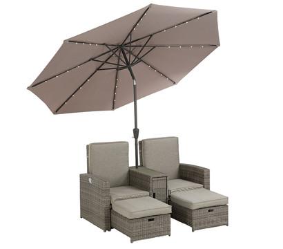 Dehner Markenqualität Sonneninsel St. Lucia mit Schirm
