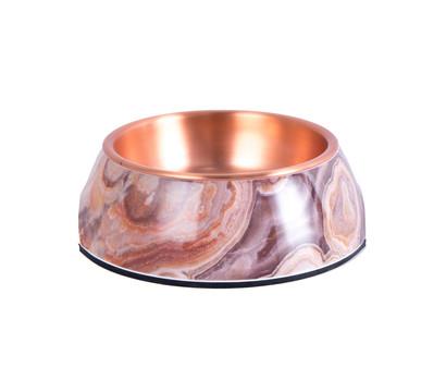 Dehner Melamin-Hundenapf, kupfer/marmor