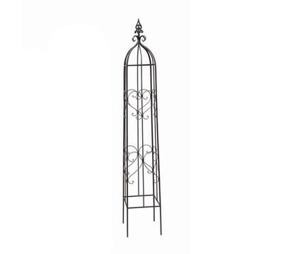 dehner metall rankobelisk heart grau dehner garten center. Black Bedroom Furniture Sets. Home Design Ideas