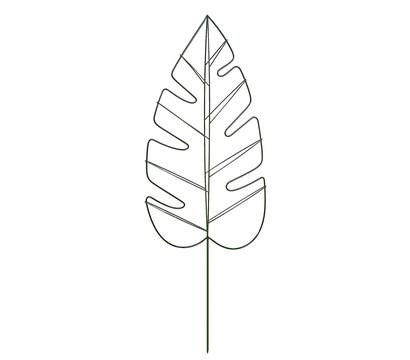 Dehner Metall-Dekorankhilfe Monstera, ca. H120 cm, dunkelgrün