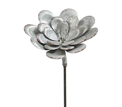 Dehner Metall-Dekostab Blume, zink-silber