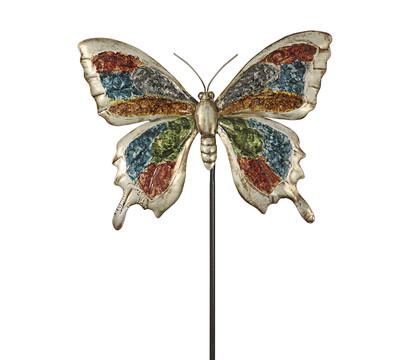 Dehner Metall-Dekostab Schmetterling, ca. H131 cm, bunt