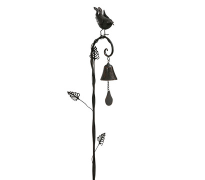 Dehner Metall-Dekostab Vogelglocke, ca. B14,6/H113/T8,9 cm