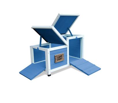Dehner Nagerschlafhaus Happy Home Teatro, blau