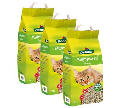 Dehner Natur Katzenklumpstreu, 3x10 Liter
