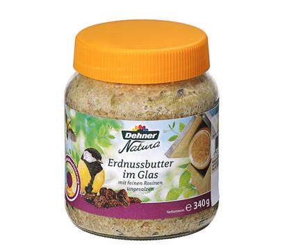Dehner Natura Erdnussbutter im Glas mit Rosinen, 340 g