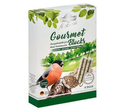 Dehner Natura Premium Wildvogelfutter Gourmet Blocks mit Hanfsaat
