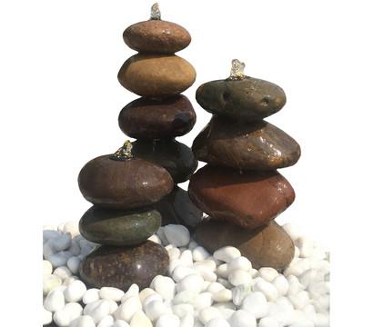 Dehner Naturstein-Gartenbrunnen Pebble, Ø 15 x 40 cm