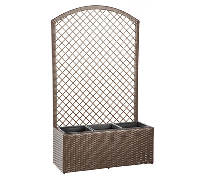 dehner polyrattan blumenkasten spalier florenz 140 x 84 x 32 cm dehner garten center. Black Bedroom Furniture Sets. Home Design Ideas