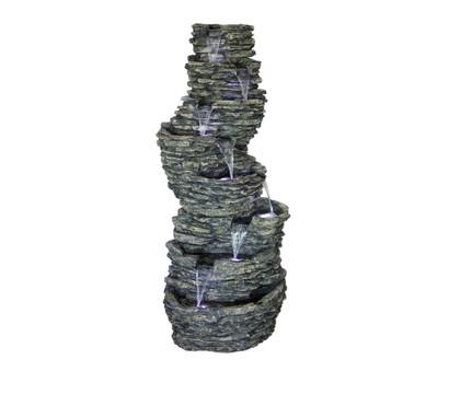 dehner polyresin brunnen 7 stufig 2 m hoch dehner. Black Bedroom Furniture Sets. Home Design Ideas