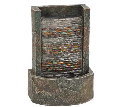 dehner polyresin zimmerbrunnen girona beleuchtet dehner