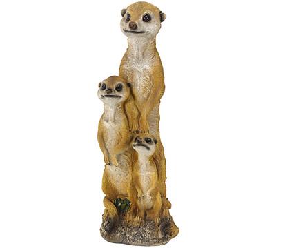 Dehner Polyresin-Erdmännchenfamilie, 16 x 14 x 48 cm