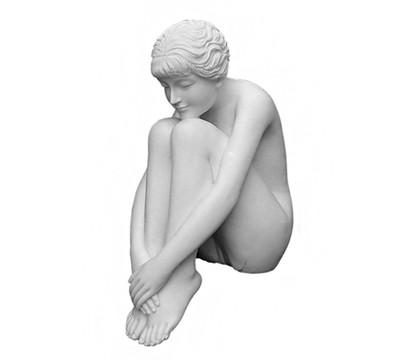 Dehner Polyresinfigur Sophia, 38 x 24 x 55 cm, weiß