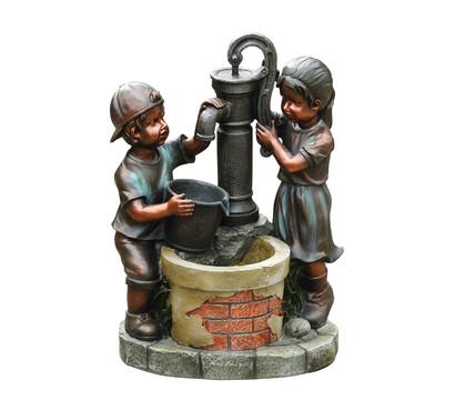 Dehner Polyresin-Gartenbrunnen Kim & Tim, 45 x 29,4 x 61,2 cm