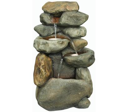 Dehner Polyresin-Gartenbrunnen Rocco, 46,5 x 40,5 x 75,5 cm