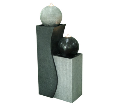 Dehner Polyresin-Gartenbrunnen Ying Yang, ca. B41,5/H94/T24 cm