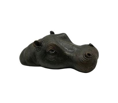 Dehner Polyresin-Schwimmfigur Hippo, 26 x 16 x 8 cm