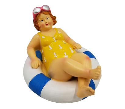 Dehner Polyresin-Schwimmfigur Molly liegend, 14 x 11 x 8 cm
