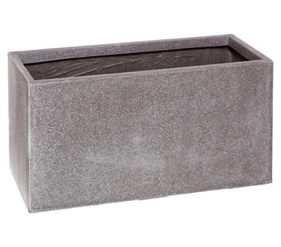Dehner Polystone-Blumenkübel, rechteckig, granit-grau : Dehner ...