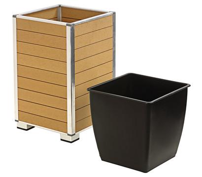 dehner polystone pflanztopf inkl kunststoff einsatz braun dehner garten center. Black Bedroom Furniture Sets. Home Design Ideas