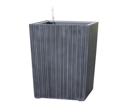dehner polystone topf eckig 40 x 40 x 50 cm grau schwarz dehner garten center. Black Bedroom Furniture Sets. Home Design Ideas