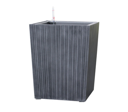 dehner polystone topf eckig 40 x 40 x 50 cm grau. Black Bedroom Furniture Sets. Home Design Ideas