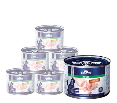 Dehner Premium für Katzen, Adult, Nassfutter, 6 x 200g/400g