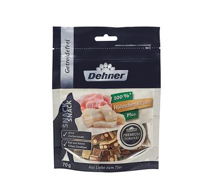 Dehner Premium Katzensnack Hühnchen & Fisch Plus, 70 g