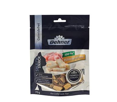 Dehner Premium Katzensnack Hühnchen&Fisch, 70 g