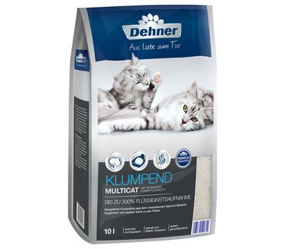 Dehner Premium Klumpend Multicat mit Aktivkohle & Babypuderduft, 10 L