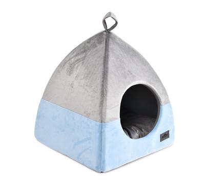 Dehner Premium Lovely Katzenhöhle Einkehr, grau-blau