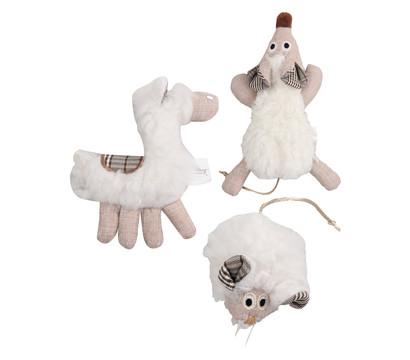 Dehner Premium Lovely Katzenspielzeug Set Kuschel-Schaf, Pferd & Mäuschen