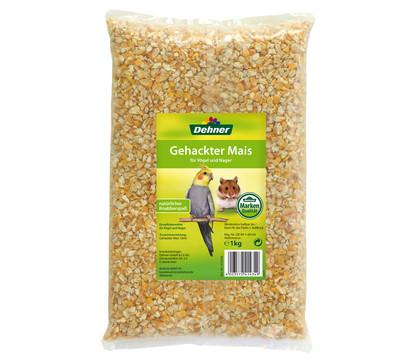 Dehner Qualitätsfutter Gehackter Mais für Vögel und Nager, 1 kg