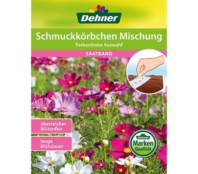 Dehner Saatband Schmuckkörbchen Mischung ' Farbenfrohe Auswahl'